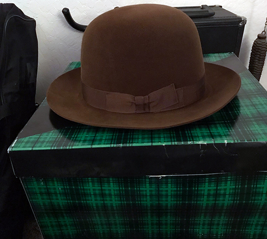 0a1b8d36b9005 Red s Rare Brown Bowler Hat